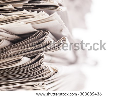 newspaper - stock photo