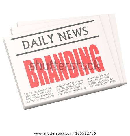 Newspaper branding - stock photo