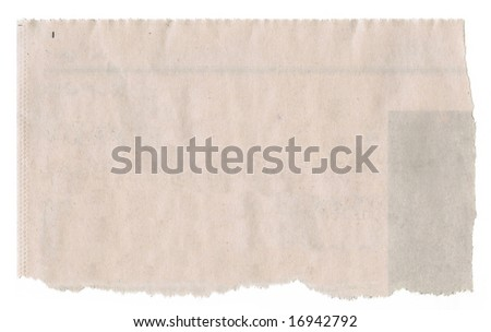 Newspaper clipping for background. - stock photo
