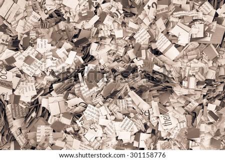 newspaper confetti - stock photo