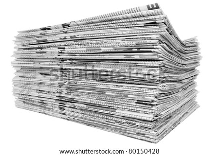 newspaper isolated - stock photo