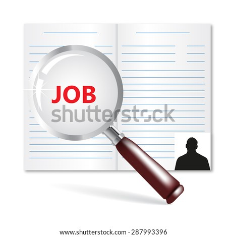 Newspaper job search, the vector on a white background