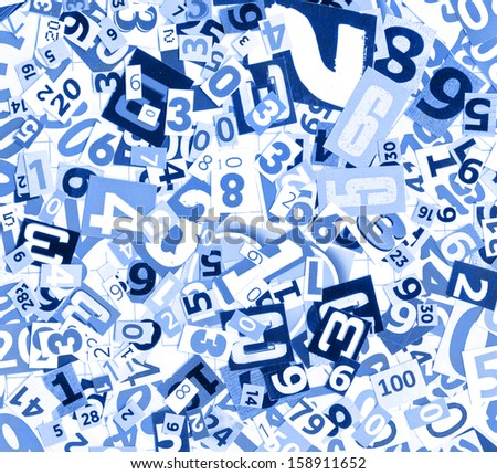 Newspaper, magazine numbers as background - stock photo