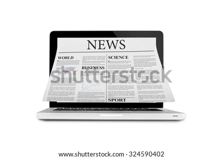 Newspaper out of laptop