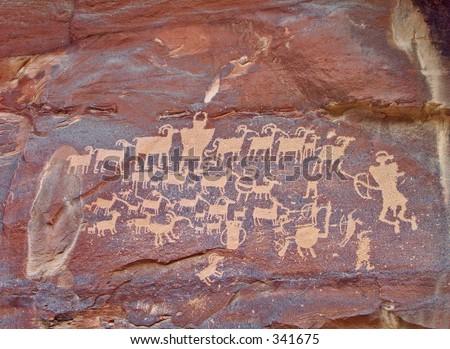 Newspaper Rock Utah - stock photo