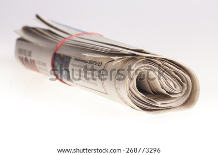 Newspaper, Rolled Up, The Media.