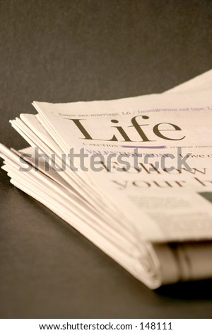 Newspaper - Section Life - stock photo