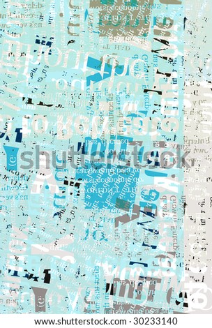 Newspaper texts for background - stock photo