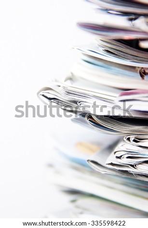 newspapers - stock photo