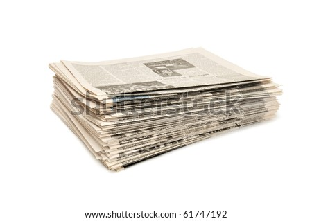 newspapers isolated on a white background