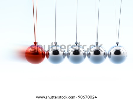 Newton Pendulum - stock photo