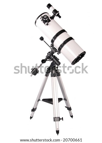 Newtonian telescope. - stock photo