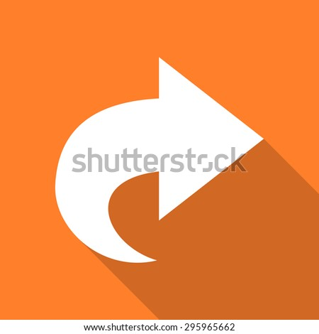 next flat design modern icon with long shadow for web and mobile app  - stock photo
