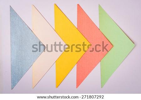 Next Step Arrow Paper cut  - stock photo