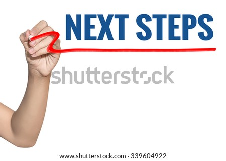 how to write next step in spanish