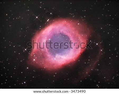 NGC 7293 Helix nebula - stock photo