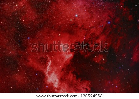 NGC7000 North America Nebula - stock photo
