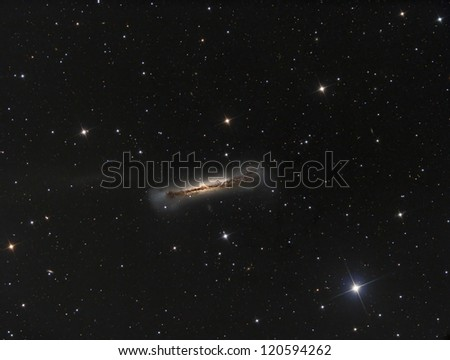 NGC3628  Part of Leo Triplet - stock photo