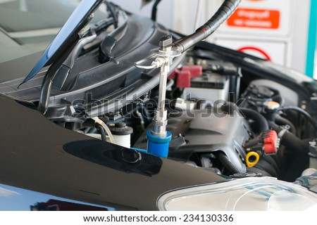 NGV gas nozzle - stock photo
