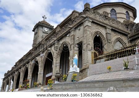 Nha Trang Cathedral in Nha Trang, Vietnam. - stock photo