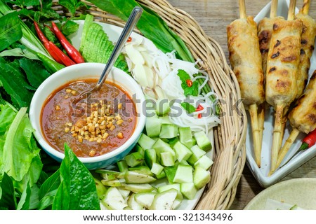 Nham due, Vietnamese food - stock photo