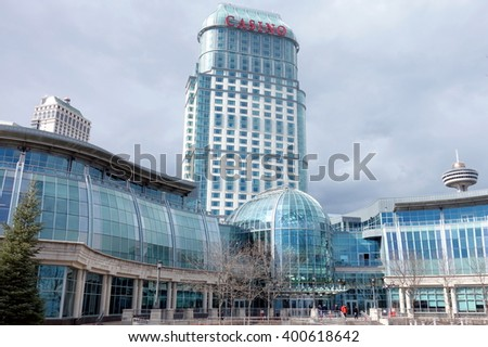 NIAGARA FALLS, CANADA - MARCH 17, 2016: A view of the Casino Niagara building in Niagara Falls, Canada. - stock photo