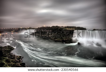 Niagara Falls Daytime Ontario New York Canada USA - stock photo