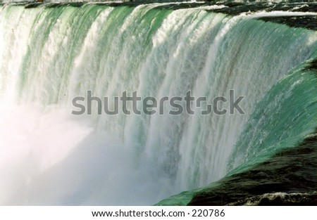 Niagara Falls from the very close - stock photo