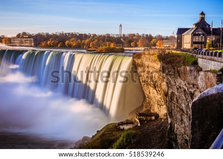 Niagara Falls in Ontario Canada during sunrise