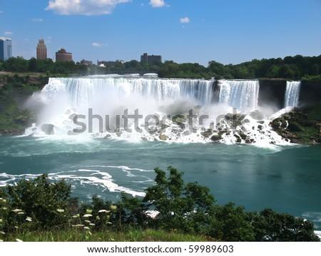 Niagara falls morning - stock photo