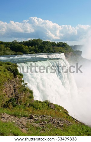 Niagara Falls on the United States of America border in summer - stock photo
