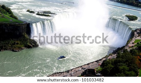 Niagara Falls View from Canada - stock photo