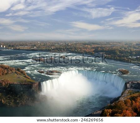 Niagara Falls, Whirlpool, Ontario Canada - stock photo