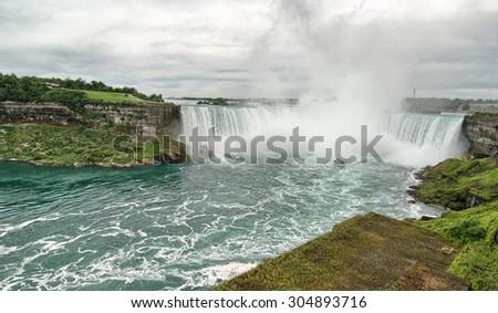 Niagara Falls, wonderful natural landscape in summer season. - stock photo