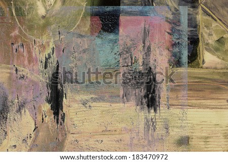 Nice abstract image of a original oil painting on canvas