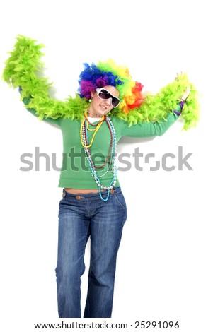 nice and happy Clown - stock photo