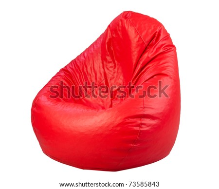 Nice and soft beanbag for your living room or others room isolated on white background - stock photo