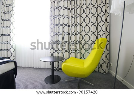 Nice arm-chair in the room - stock photo