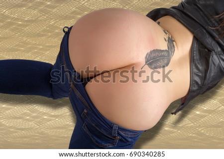 bare female asses