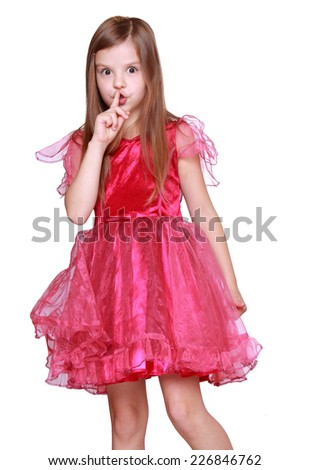 Nice attractive little blond girl wearing butterfly costume on Holiday theme/Cute butterfly little girl  - stock photo