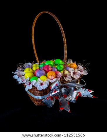 Nice basket full of color ball sweets.
