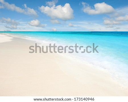 Nice beach - stock photo