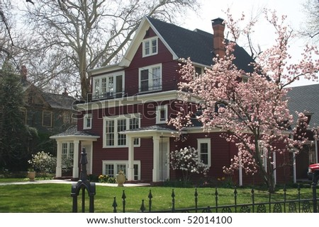 Nice Big Old House in Boise Idaho - stock photo