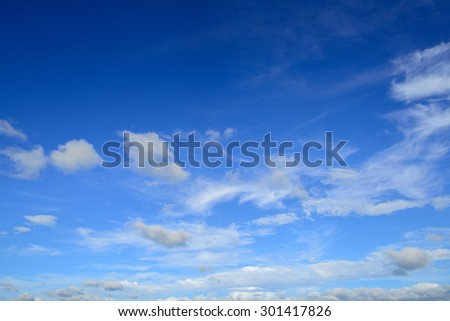 Nice blue sky with  clouds - stock photo