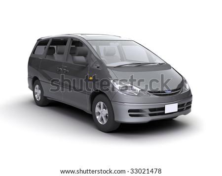nice car on the white - stock photo