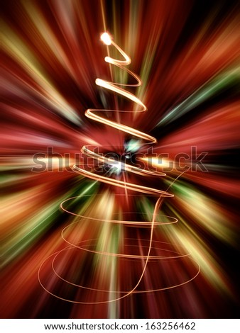 nice christmas tree from the color lights  - stock photo