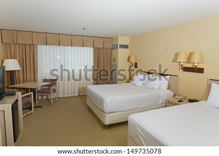 Nice clean and cozy two double bed room