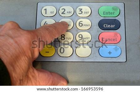 Nice Closeup Image of a Security Keypad - stock photo