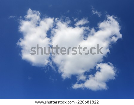 nice cloud in blue sky - stock photo