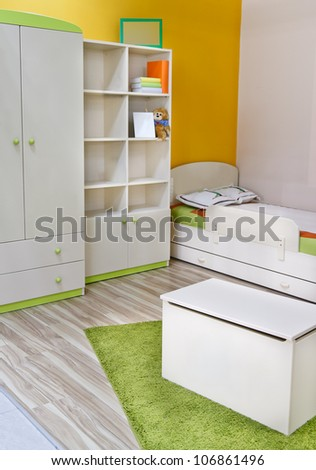 Nice colorful room for baby and child - stock photo